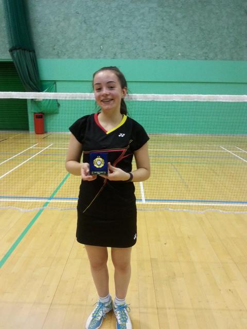 Jess Bateman U14 Kent Open Champion