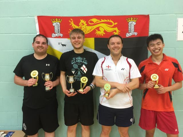 Mens Doubles Winners / Runners Up - Chris Piff, Jack Taylor & Ian Murphy, Huan Chun Chan