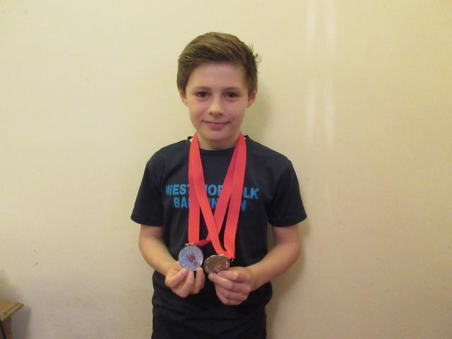 Harry with his runners up medals